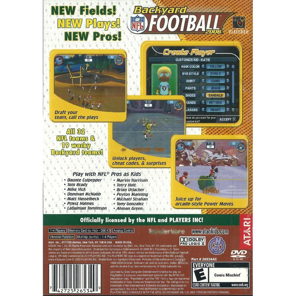 Backyard Football 2006 - PS2 - Outlaw's 8-Bit and Beyond